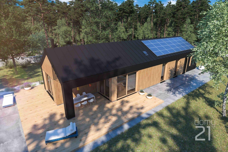 projekt domu D21-9AII G1 PARTEROWY